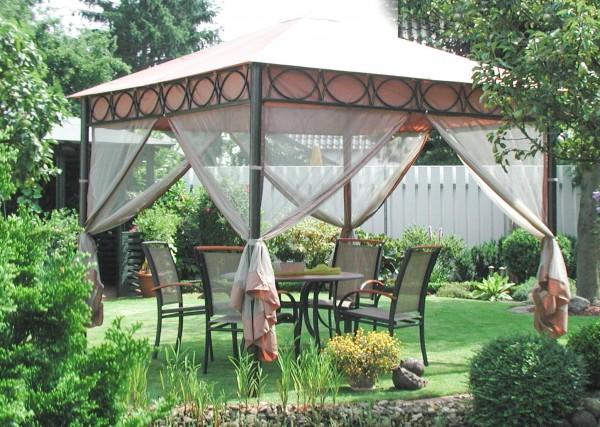 Pavillon Kalahari mit Mückennetz Moskitonetz