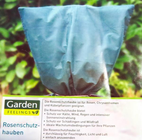 3 Stück Wintervlies-Haube 80cm x 75cm - Rosenschutzhaube grün