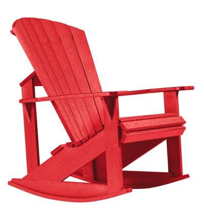 Adirondack Schaukelstuhl rot - aus Kunststoff