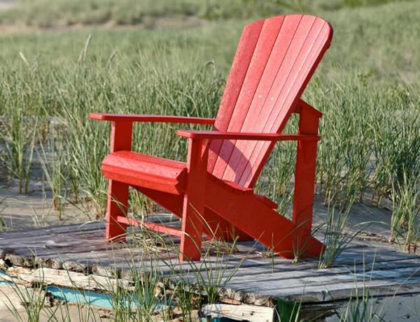 Muskoka Stuhl rot - Kunststoff - Adirondack Sessel