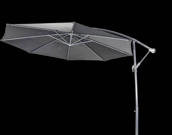 Ampelschirm GARDA schwarz - Sonnenschirm mit Kreuzfuß