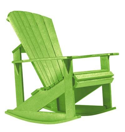 Muskoka Schaukelstuhl grün (17) - aus Kunststoff