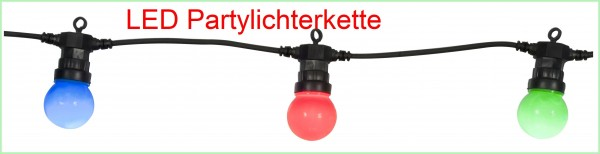 Party-Lichterkette 10 bunte LED- Birnen