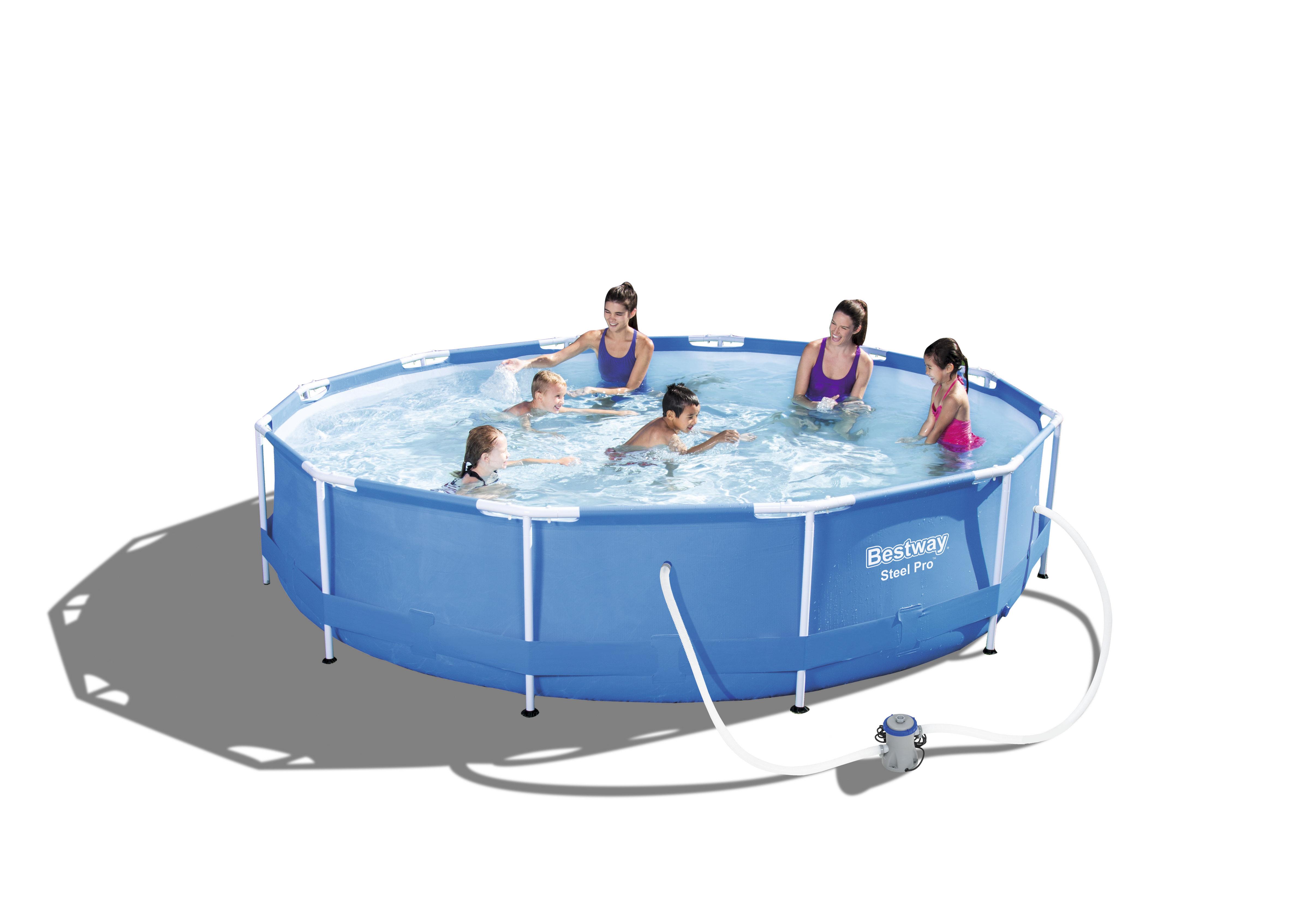 planschbecken rund 366 cm frame pool mit filterpumpe gartenpool gartenshop ahrensburg. Black Bedroom Furniture Sets. Home Design Ideas