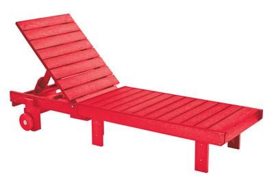 rote Pool-Liege aus Kunststoff