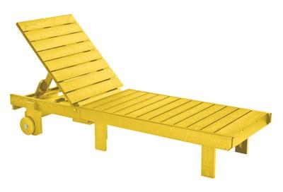 Garten-Liege gelb, Lounger in Gelb