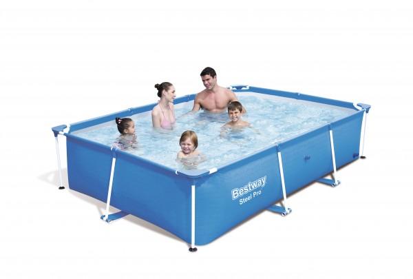 Planschbecken eckig Frame Pool 259 cm x 170 cm x 61 cm, Swimmingpool