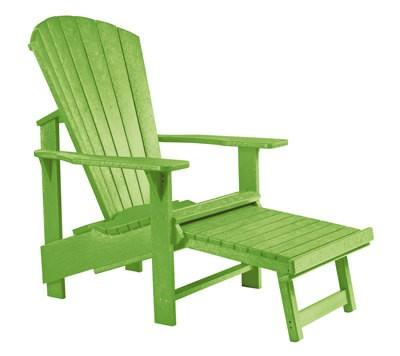Adirondack Sessel mit Fußbank ausziehbar grün - aus Kunststoff