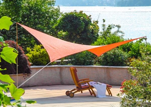 Sonnensegel Rechteck orange 4m x 5m - von DURANET