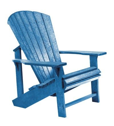 Muskoka Stuhl blau Adirondack - aus Kunststoff - Alsterstuhl