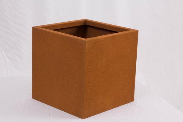 CORTEN-Pflanzkübel quadratisch 30cm x 30cm, Blumenkübel vorgerostet.