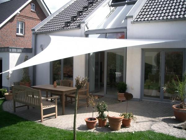 Sonnensegel Retourware Sonderpreis - Dreieck mit 3,3m Kantenlänge, weiß