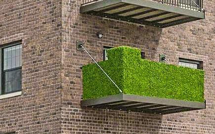 Kunsthecke Sichtschutzhecke H= 1,00m, Balkonverkleidung Kunststoffzaun