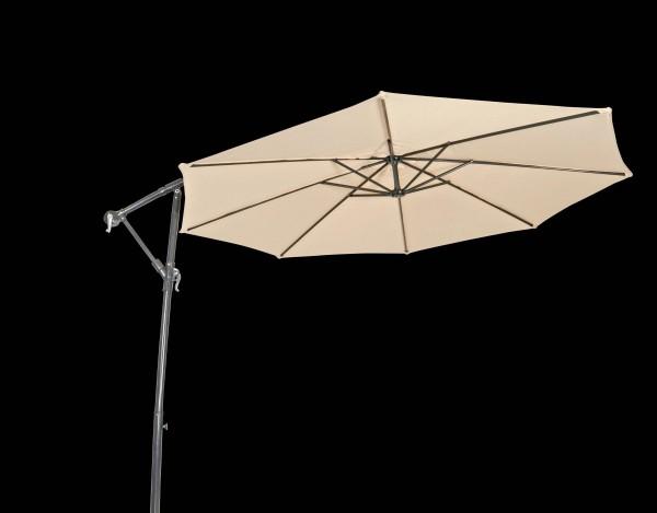 Ampelschirm GARDA beige - Sonnenschirm mit Kreuzfuß