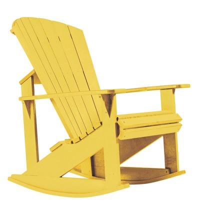 Adirondack Schaukelstuhl gelb - aus Kunststoff