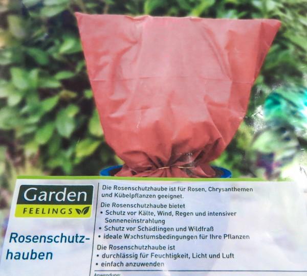 3 Stück Wintervlies-Haube 80cm x 75cm - Rosenschutzhaube rot
