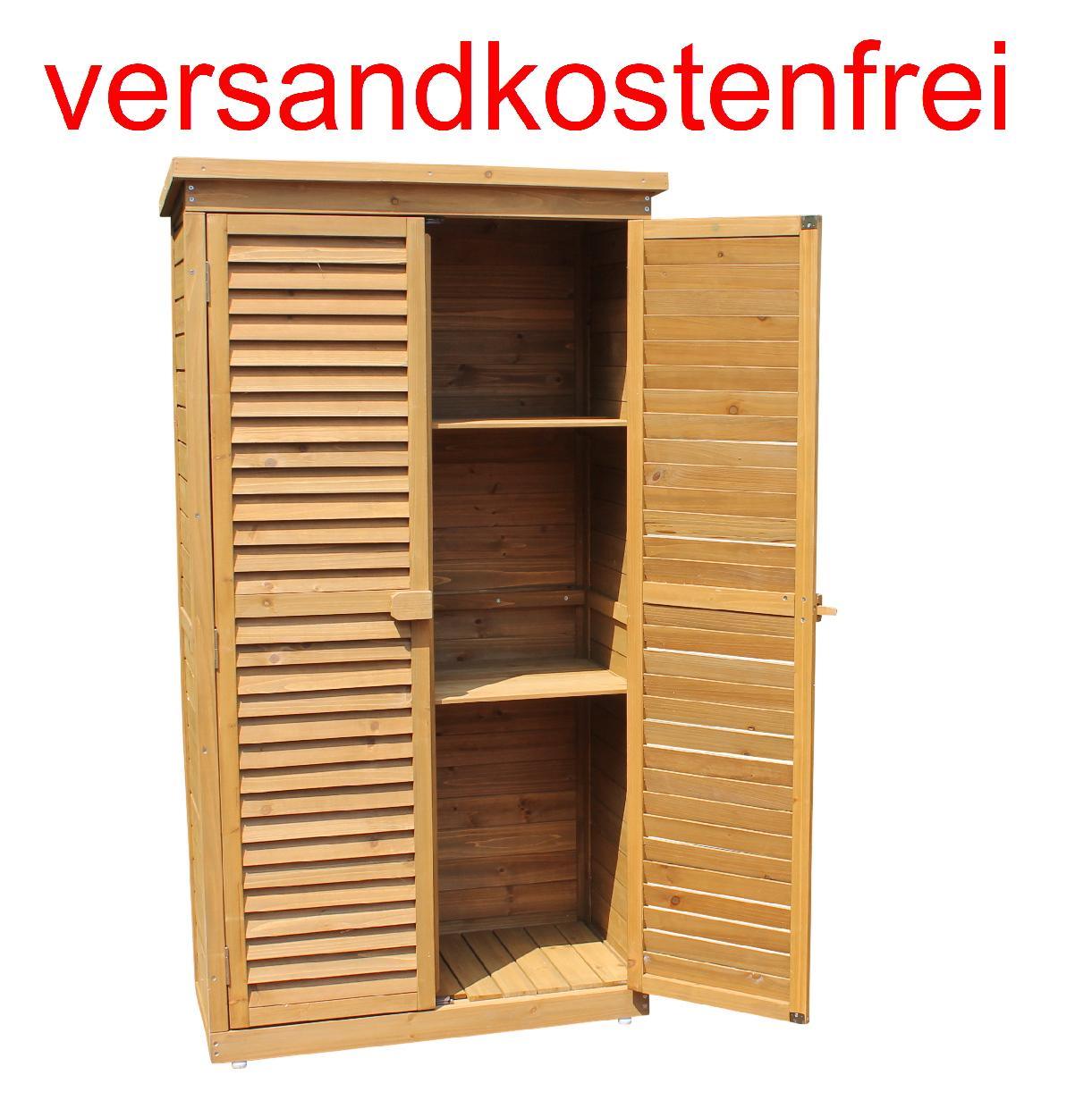 Geräteschrank Höxter 160 Gartenschrank Mit Lamellentüren
