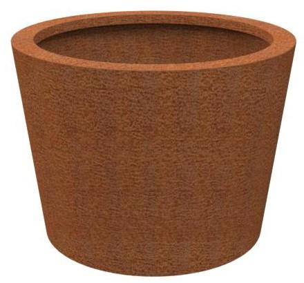 Pflanzgefäß Corten rund konisch 50cm x 50cm